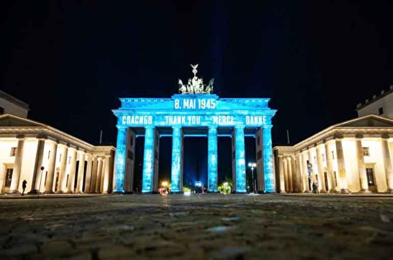 Brandenburg Gate di ibukota jerman